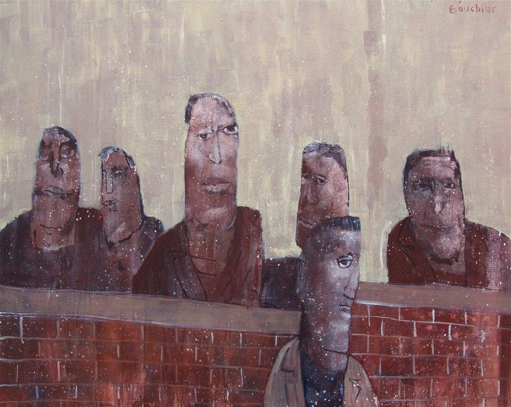 Bij de muur
