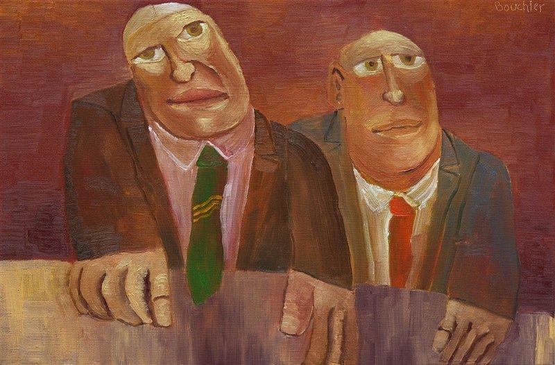 Twee mannen aan tafel